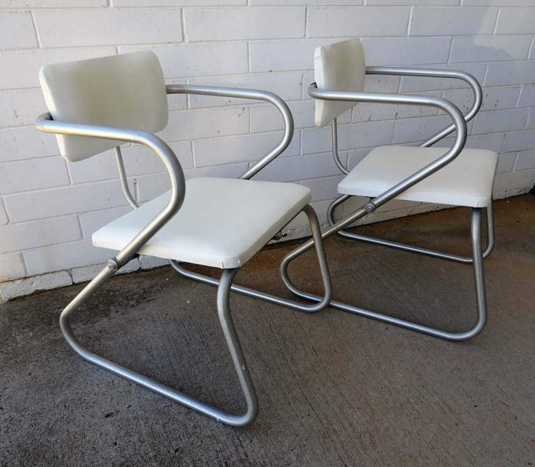 Pair 1950s Namco dining chairs, Warren McArthur USA