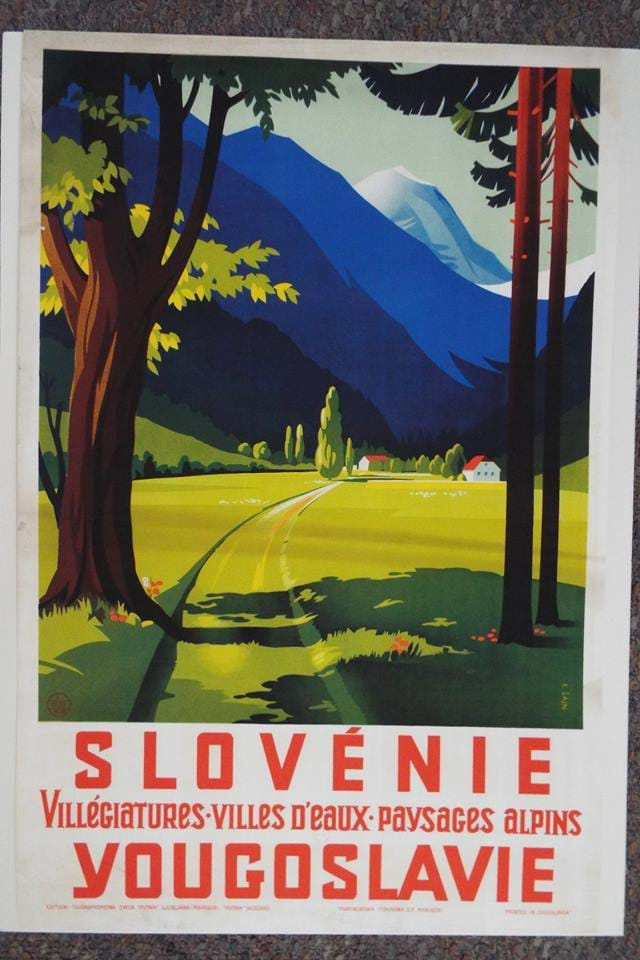 Yugoslav era tourism advertising poster for Slovenia